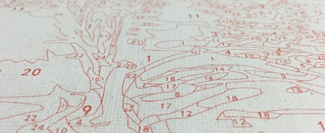 схема картины по номерам