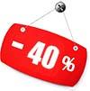 скидка 40 процентов