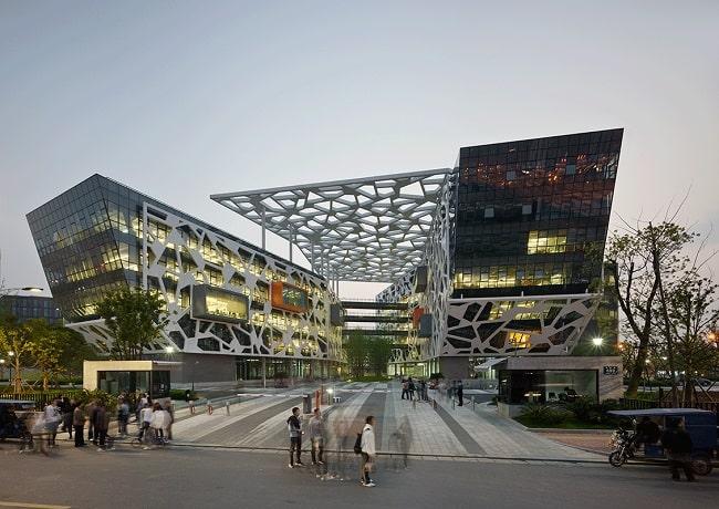 офис алиэкспресс в китае - необычное здание