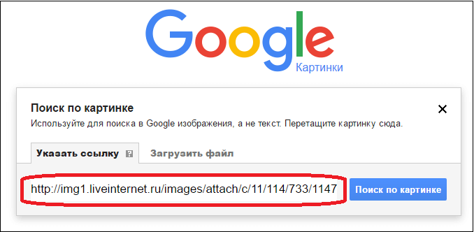 Как сделать поиск по картинкам в гугл